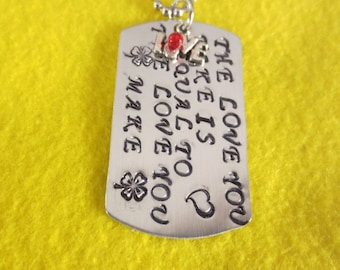 Beatles dog tag necklace