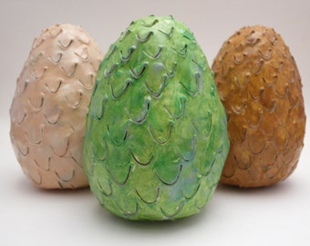 Large Game of Thrones Inspired Dragon Eggs ((Set of 3))