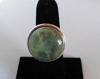 Prehnite Copper Ring