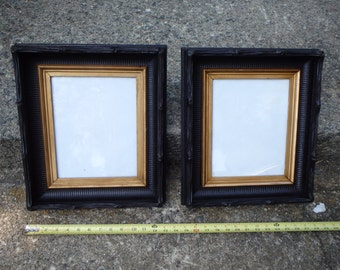 Pair Antique Picture Frames Hand Carved