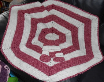 Double Crocheted Baby Girl Pink Afghan