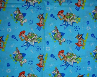 Blue Toy Story Cotton Fabric by the Yard