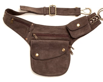 Leather Hip Pouch: bumbag pocket belt fanny pack utility belt travel festival
