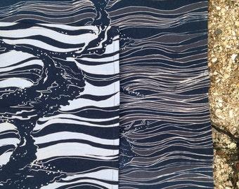 Set of 2 100% Cotton Tea Towels - 'Wave Breaker'