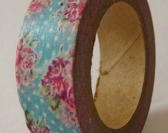 """CLEARANCE """"Shabby Chic"""" Washi Tape  15mm X 10 meters"""
