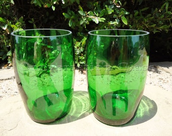 Perrier Bottle Glasses Tumblers Set of 2