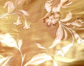 Dramatic Honeyed Gold Print Floral Silk - Fabric By The Yard