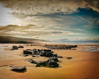 Ireland Beach Photo, County Clare, Burren Beach, Ireland, Ballyvaughan, Lisdoonvarna, Large Wall Art