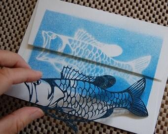 Bass stencil art