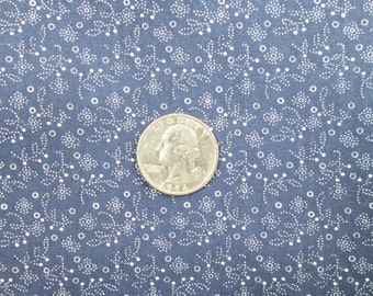 Navy Blue Fabric 60 Wide Quilting White on Blue