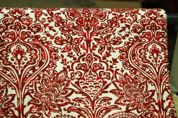Home Decor Fabrics By The Yard: PREMIER PRINTS FABRIC, Shiloh Carmine, Home Decor Fabric