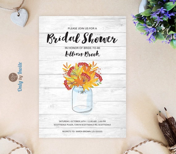 Rustic Bridal Shower Invitations Cheap By OnlybyInvite On Etsy