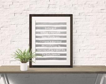 True Words Grey Watercolor Vincent Van Gogh
