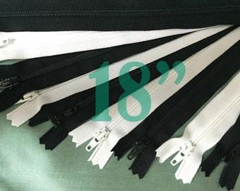 18 inch zippers ykk zippers assorted zippers nylon zippers black zippers 18 inch zips wholesale zippers sampler pack zipper