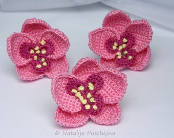 Crochet Pattern for orchids Flowers - Tutorial