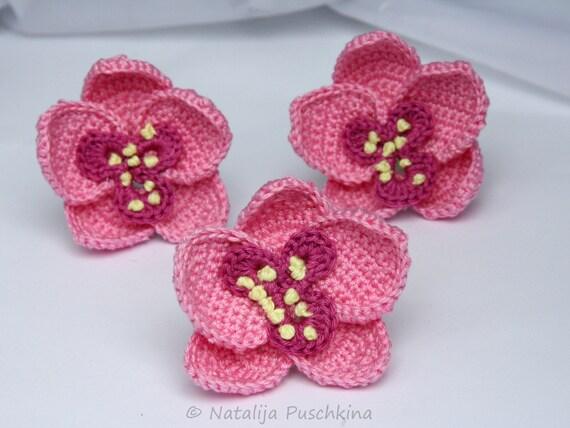 Free Crochet Pattern Orchidee : Crochet Pattern for orchids Flowers by HandMadeByNatalija ...