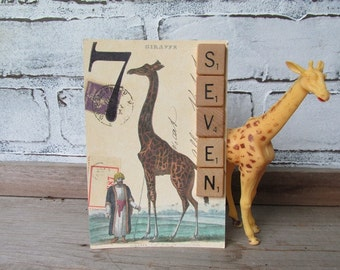 Table Numbers Cavallini Postcards Repurposed Vintage Wedding Numbers One Through Ten