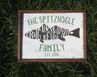 Custom Family Name Fish Sign