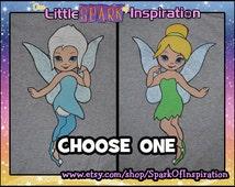Periwinkle, Tinkerbell, Zarina, Vidia, Rosetta, Fawn, Iridessa, Silvermist Kawaii  Fairy Inspired T-Shirts Commission