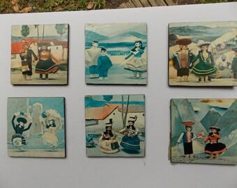 6 Vintage Coasters
