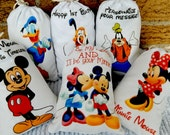 "Mickey Mouse and Friends Favor Bags Birthday Party or School events for Treat's or gift Can be personalized 5"" X 7"" or 6"" X 8"" Qty 6"