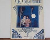 A Girl and Boy At Moonlight Music Sheets
