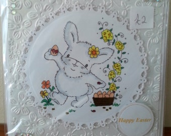 Handmade 6x6 Size Easter Card