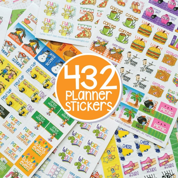 Children S Calendar With Stickers : Mom planner stickers qty for any or calendar