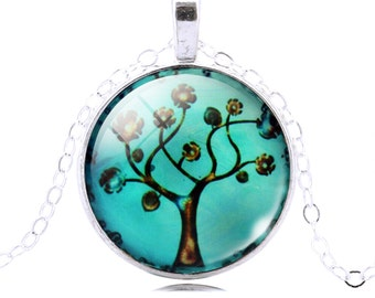 Swirling Tree of Life Pendant and Chain