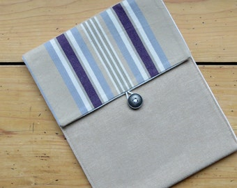50% off, Case for Ipad 2 Ipad 3, Padded Ipad case , water resistant Striped Ipad Case, Back to School