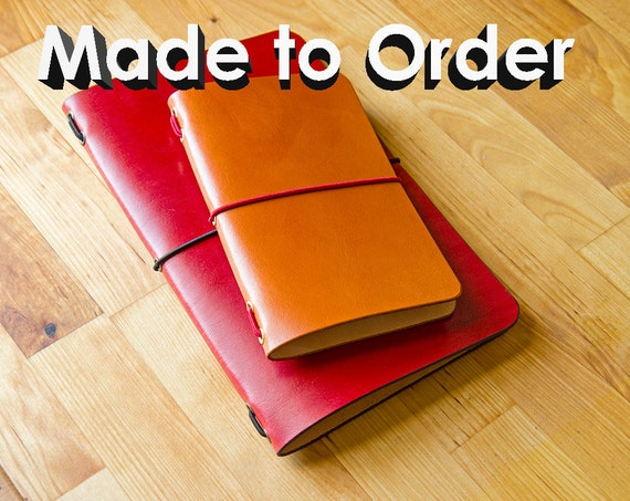 Leather Moleskine Large Cahier Notebook Cover, Made to Order
