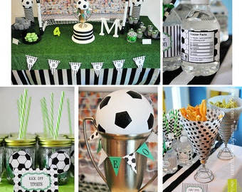 SALE!! Soccer or World Cup Party Editable & Printable Party Kit
