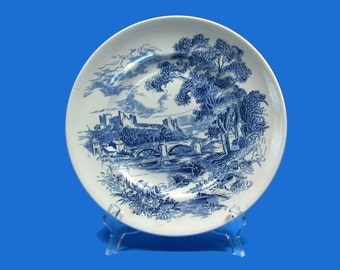 Beautiful Wedgwood & Co Countryside Blue Pattern Dinner Plate - 1960's in Wonderful Condition