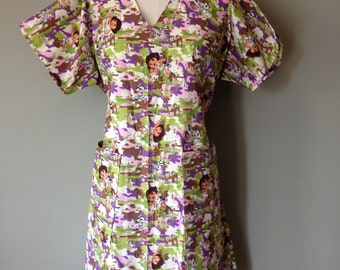 Nurse Uniform Dress, Scrub Dress,Size Medium