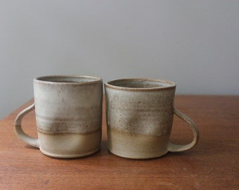 Two's a Pair: Dimpled Toasty Beige Mugs