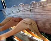 Laser Engraved Custom Wooden Hanger