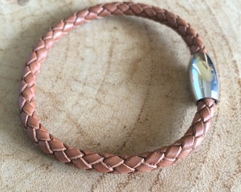 Men - Leather Braided Cord bracelet