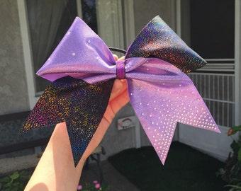 Multi colored rhinestone bow