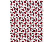 Strawberry Tea Towel Bright and Vivid Strawberry Tea Towel