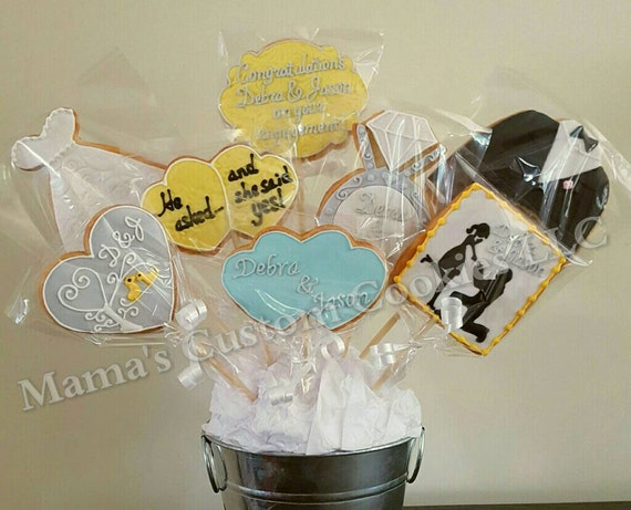 Custom Engagement Cookie Bouquet