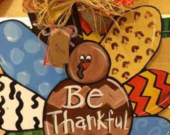 Happy Thanksgiving Turkey door hanger