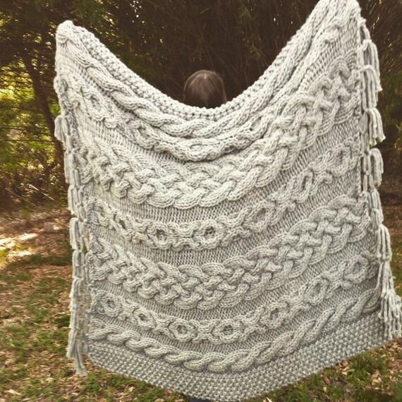 Items similar to Irish Wedding Aran Knit Afghan, Made To Order on Etsy