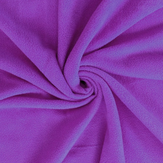Polar fleece fabric purple by the yard 1 yard style for Purple baby fabric