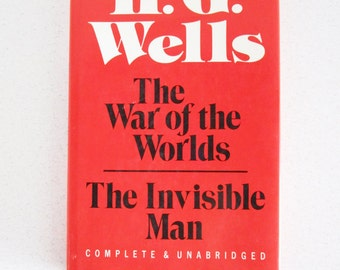 1987 hardcover edition of War of the Worlds & The Invisible Man H G Wells