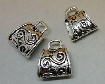10pcs 20x23mm Antique Silver Pendant Bails Charm Connector Holder - Necklace Clasp Connector
