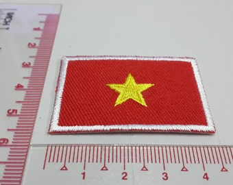 Vietnam Flag Iron on patch - Vietnam Flag Applique Embroidered Iron on Patch