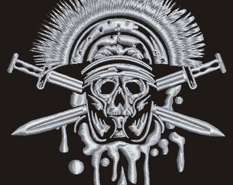 Indian Skull and Swords l - Machine Embroidery design