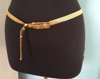 Gold mesh adjustable belt