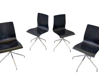 Danish Modern Dining Conference Chairs Mid Century