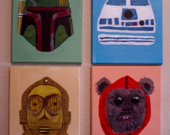 Star Wars Series x 4 Acrylic